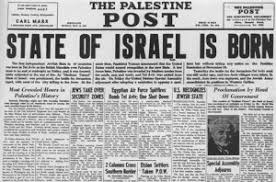 Israel 1948 Newspaper