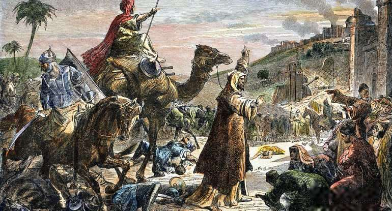 Caliph Omar Enters Jerusalem